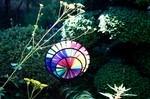 庭先の風車。
