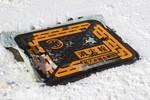 路面の「消火栓」回り、雪掻き。