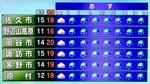 佐久地方は、一日中「傘マーク」が…。