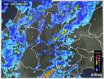 雨雲レーダー画像・佐久地方に大雨…。